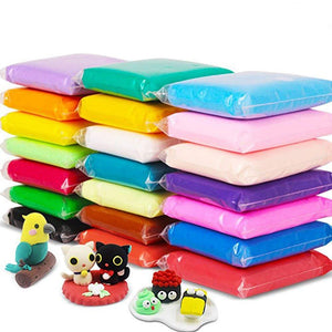 Play dough Ultra-light Air Dry clay 100% Non-Toxic slime Polymorph Plasticine Mud 24 Colors Clay