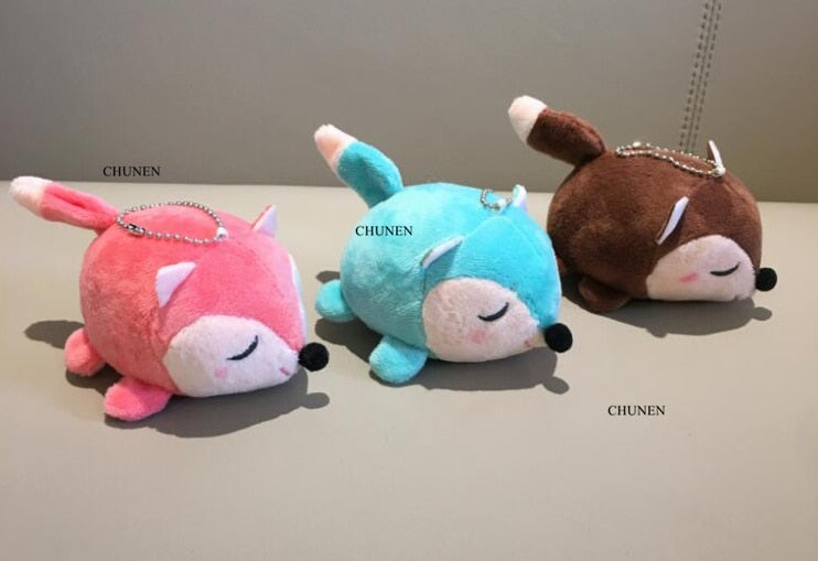 3 Colors Small Stuffed Toys Key Chain Gift Plush Toys Baby Toys Dolls