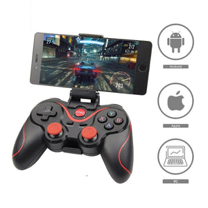 Terios Wireless Joystick Gamepad Game Controller bluetooth BT3.0 For Mobile Phone Tablet TV Box
