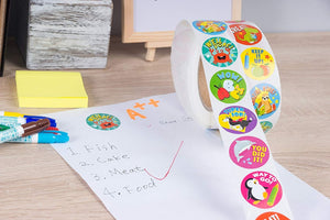 Reward Stickers Encouragement Sticker Roll Motivational Stickers with Cute Animals for Students