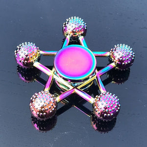 Rainbow Heptagonal Hand Spinner Fidget Zinc Alloy Metal Bearing Edc Finger Spinner Relieves Stress
