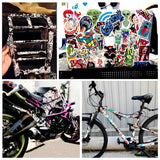 Black and White Random Cartoon PVC Toys Cool Stickers Luggage Notebook Laptop Bomb Car-Styling