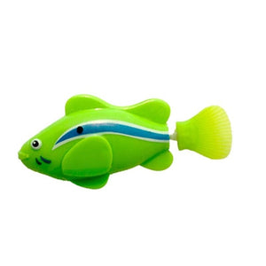 Flash Swimming Electronic Pet Fish Bath Toys for Children Kids Bathtub Battery Powered Swim Robotic
