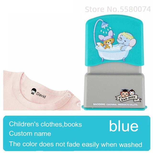 Custom-made Baby Name Stamp DIY Seal clothes chapter Not Easy To Fade Security Name Stamp Sticker