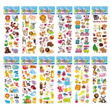 Kids Stickers 3D Puffy Bulk Cartoon Zoo Animal Scrapbooking Stickers for Girl Boy Birthday Gift