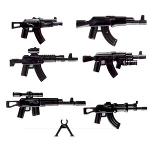 Military Swat Weapon Building Blocks Guns Pack City Police Soldier Builder Series WW2 Army Accessories MOC Brick Boys Gift Toys