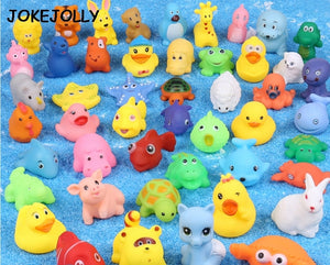 Cute Baby Toddler Shower Bathing Toys Wash Play Animals Soft Rubber Float Sqeeze Sound toys