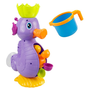 Kids Shower Bathing Toys Cute Yellow Duck Waterwheel Elephant Baby Faucet Water Spray Tool Dabbling