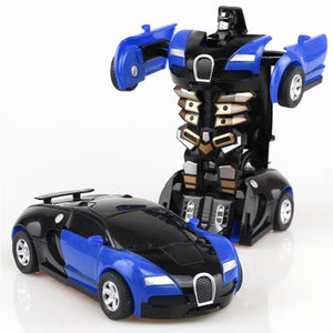 Rc Transformer 2 in 1 RC Car Robot Toy Anime Action Figure Toys Interactive toys Collision Transforming Model Gift for Children