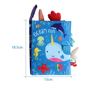 Baby Early Learning Tearing Tail Cloth Book Parent-child Interactive Sound Paper Puzzle Cloth