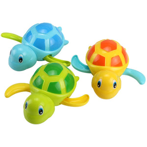 Cute Cartoon Animal Tortoise Classic Infant Swim Turtle Wound-up Chain Clockwork Kids Bathing Toys