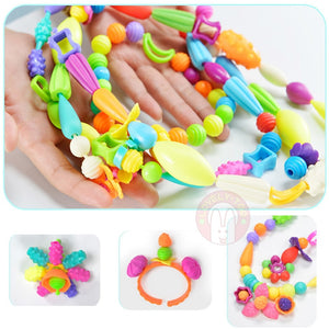 Diy Pop Beads Toys Creativity Needlework Kids Crafts Bracelets Handmade Jewelry Fashion Kit Toy
