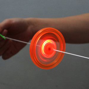 Flash Pull Line Led Flywheel Hot Fire Wheel Glow Flywheel Whistle Creative Classic toys Gift