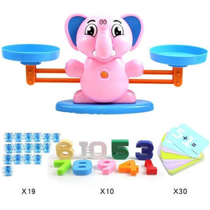 Math Match Game Board Toy Monkey Cat Match Balancing Scale Number Balance Game Kids Educational Toy