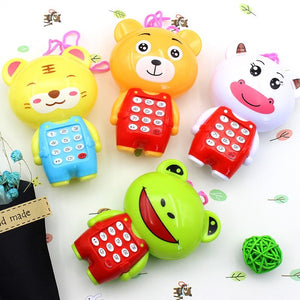 Electronic Musical Mini Cute Children Phone Toy Cartoon Mobile Phone Telephone Cellphone Baby Toys