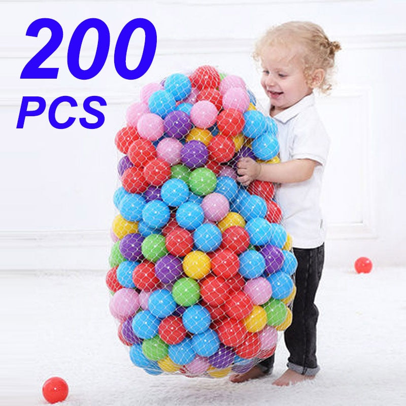 Colors Baby Plastic Balls Water Pool Ocean Wave Ball Kids Swim Pit Play House Outdoors Tents Toy
