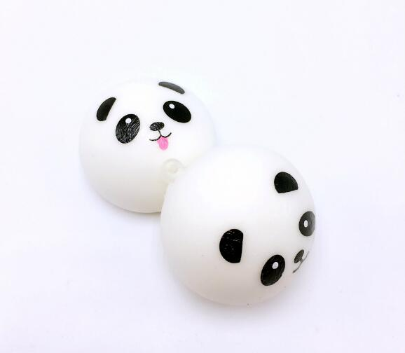 Squishy Panda Bun Stress Reliever Ball Slow Rising Decompression Toys PU Key chains Keychain Toys