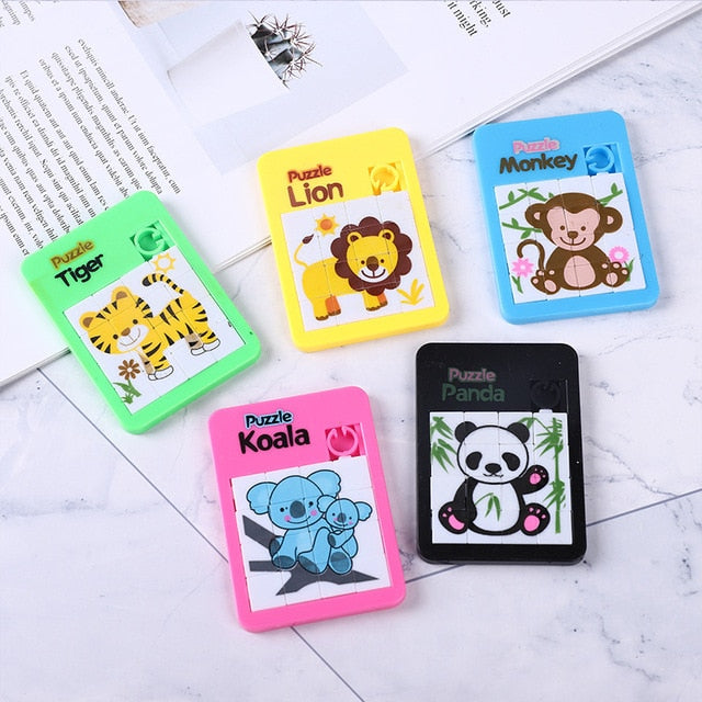 Early Educational Toy Developing for Children Jigsaw Digital Number 1-16 Animal Cartoon Puzzle Toys