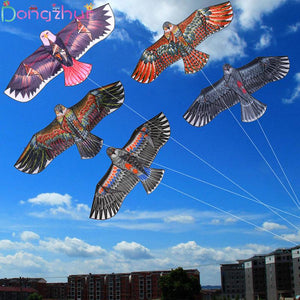 1.1m Flat Eagle Kite With 30 Meter Kite Line Children Flying Bird Kites Windsock Outdoor Toys
