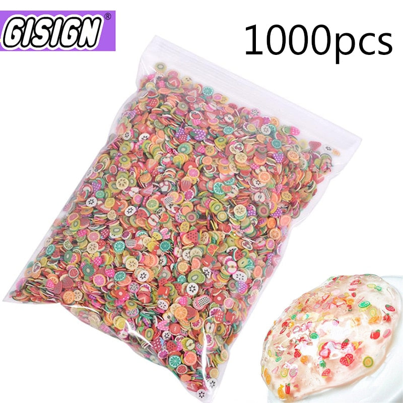 Fruit Slices Filler For Nail Art Slime Fruit Addition For Lizun Diy Charm Slime Accessorie Supplies