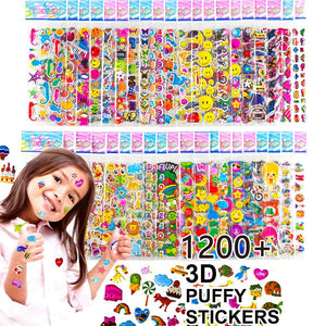 Kids Stickers 3D Puffy Bulk Stickers Girl Boy Birthday Gift Scrapbooking Teachers Animals Cartoon