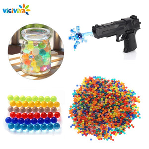 Viciviya DIY Assembling Toy Gun for Crystal Ball Soft Bullets Paintball Gun Funny Toy Xmas Birthday Gifts for Kids