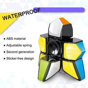 Fingertip Gyro Cube Decompression Toy ABS Cube Gyro Puzzle Finger Gyro Toy Spinner Candy Color