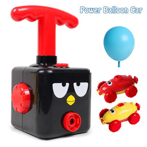 Power Balloon Launch Tower Toy Fun Inertia Air Power Balloon Car Science Experimen Children Gift