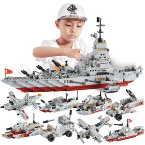 Military Warship Navy Aircraft Army Figures Building Blocks LegoINGlys Army Construction Bricks Toy
