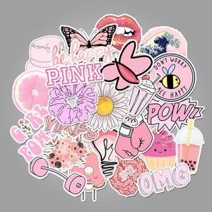 Vsco Sticker Waterproof Skateboard Scrapbook Suitcase Pink Sticker Pack Animal Laptop Racing Stiker