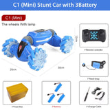 Remote Control Stunt Car Gesture Induction Twisting Off-Road Vehicle Light Music Drift Dancing Side Driving RC Toy Gift for Kids