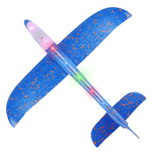 Hand Throw Airplane EPP Foam Launch fly Glider Planes Model Aircraft Outdoor Fun Toys Party Game