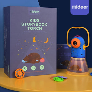 MiDeer Children Story Projector Kaleidoscope Night Light Up Lamp Learning Toys luminous film Disc