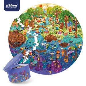 MiDeer Puzzle 150PCS Puzzles Toys Educational Toys Hand-painted Jigsaw Board Style Puzzles Box