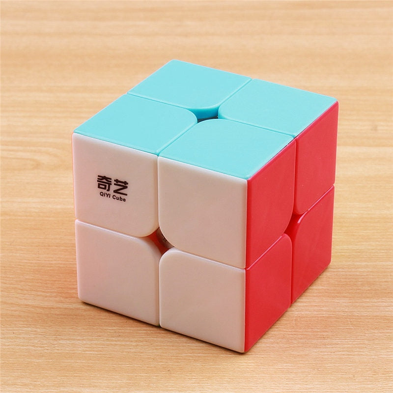 QIYI Qidi 2x2x2 Magic Speed Pocket Cube Stickerless Puzzle Professional Cube Speed 2x2 Cube Toys