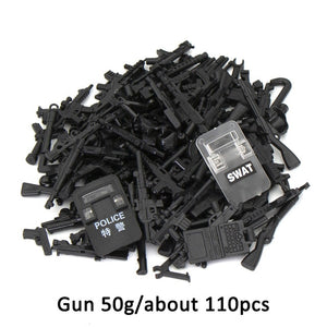 Duploed Military set Army City Police Gun Weapons Series Pack City Soldiers SWAT Building Blocks toys for childrens kids