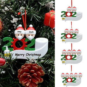 DIY Quarantine Christmas Quarantine Decoration Santa Claus Personalized Hanging Pendants Ornament