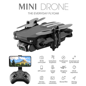 Mini Drone 4K 1080P HD Camera Fpv Air Pressure Altitude Hold Black And Gray Foldable Quadcopter