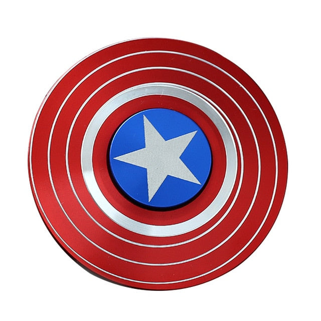 American Captain Fingertip Gyro Shield Alloy Gyro Spinner Decompression Toy Fidget Spinner