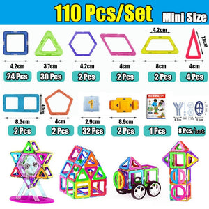 Mini Magnetic Designer Construction Set Model & Building Toy Plastic Magnetic Block Educational Toy