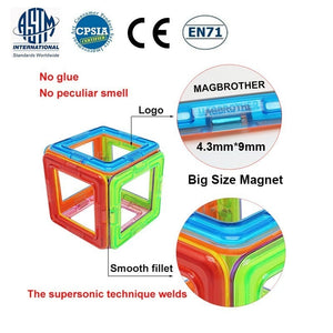 Big Size Magnetic Designer Magnet Building Blocks Accessories Educational Constructor Toys