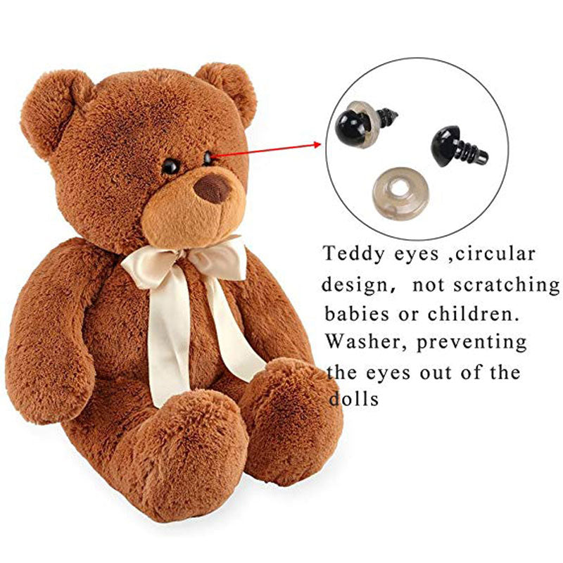 6-12mm Black Plastic Crafts Safety Eyes for Teddy Bear Soft Animal Doll Amigurumi DIY Accessories