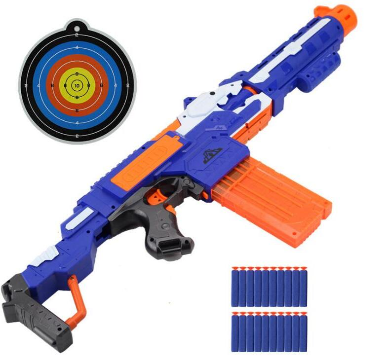 Electrical Soft Bullet Toy Gun Pistol Sniper Rifle Plastic Gun Arme Arma Toy Suitable for Nerf