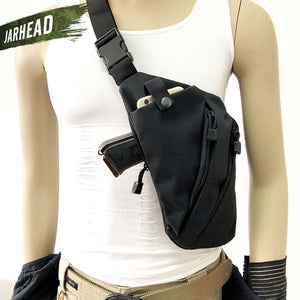 Concealed Tactical Storage Gun Holster Left Right Nylon Shoulder Chest Bag Anti-theft