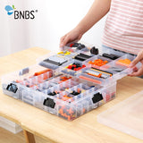 Building Blocks Lego Toys Large Capacity Hand Kids Storage Case Adjust Clear Plastic Organizer Box