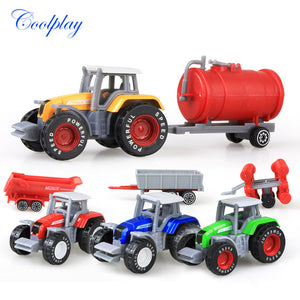 Die-cast Farm Vehicles Mini Car Model Engineering Tractor Engineering Car Tractor Kids Xmas Gift