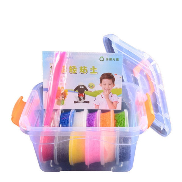 Air Dry Light Slime Modeling Clay Set Jumping Box Play Dough DIY Snow Plasticine Polymer Clay Toy