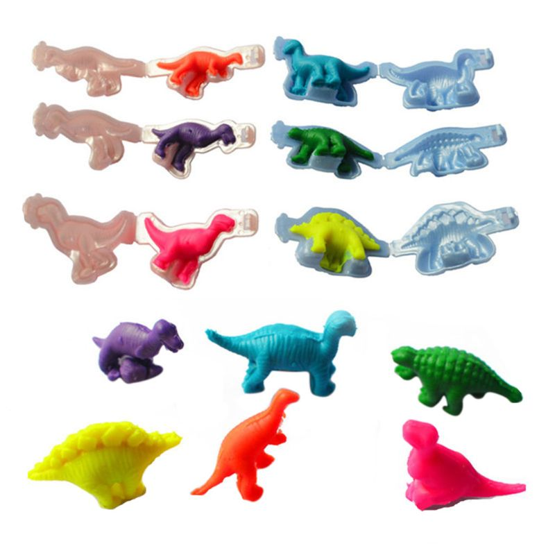 Dinosaur Plasticine Mould Tools DIY Clay Moulds Toy Kit Dough Modeling Clay Toys