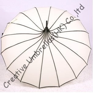 Free shipping,ladies fashion parasol,8mm pagoda umbrellas and 7.0mm metal fluted long ribs,hand open,tower parasol,16k