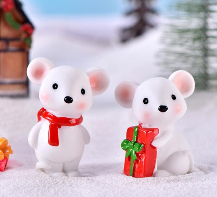 2020 new year Mascot mouse Model Ornaments Cartoon animals kids Christmas gift Micro landscape decor for home figure toys 1Piece